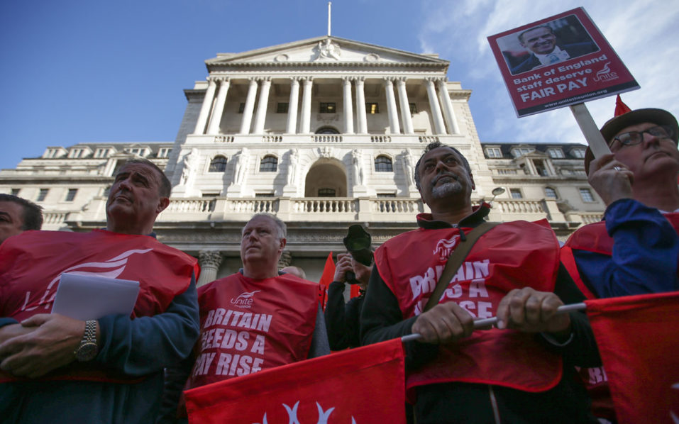Bank of England staff strike for first time in 50 years