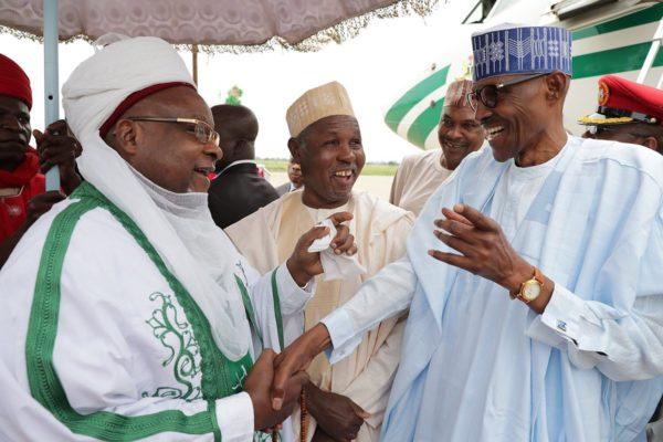 Thousands welcome Buhari in Daura for Sallah