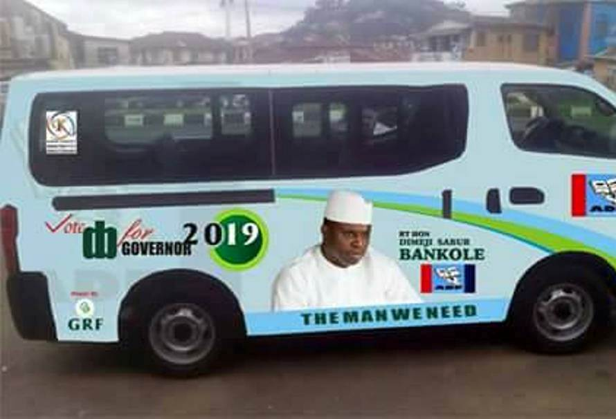 Former House of Rep Speaker, Dimeji Bankole Begins Governorship Campaign with Branded Buses in Ogun