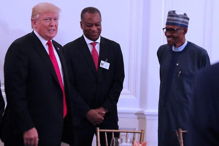 PHOTOS: President Buhari meets Trump during luncheon at UNGA