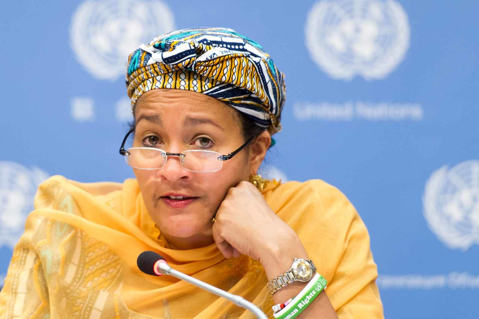 Video: Buhari's Former Minister, Un Deputy Secretary General, Amina Mohammed In $300m Illegally Shipped Wood Scandal