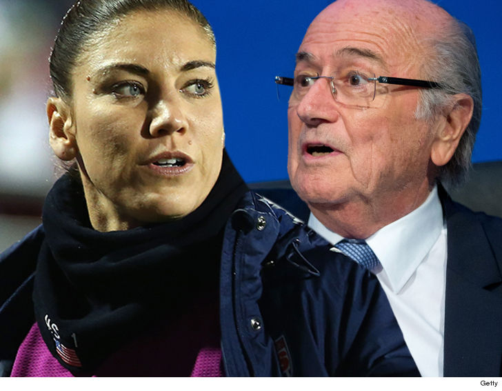 I didn't grab your ass; Blatter replies Hope Solo