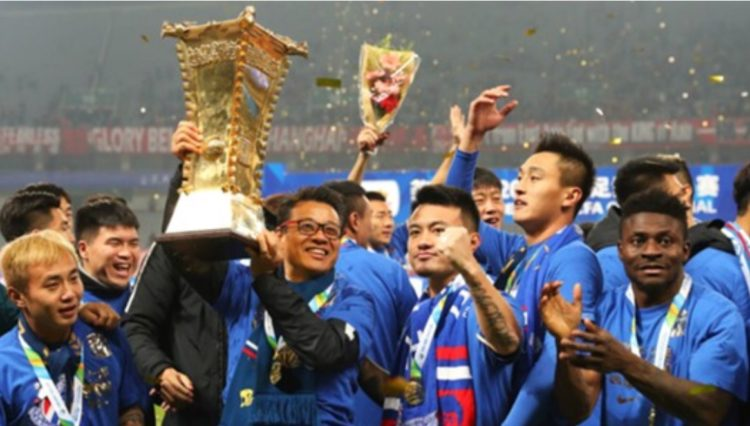 Obafemi Martins delivers Chinese FA Cup to club, first in 19 years