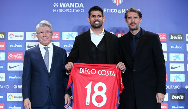 25,000 fans welcome Diego Costa back to Atletico Madrid