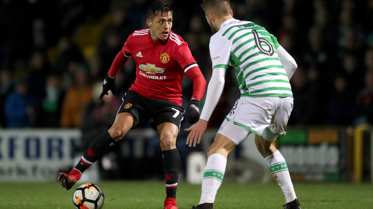 United hit four as Sanchez grabs man of the match on debut