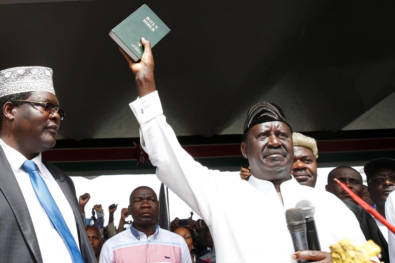 Odinga now Kenya's opposition president