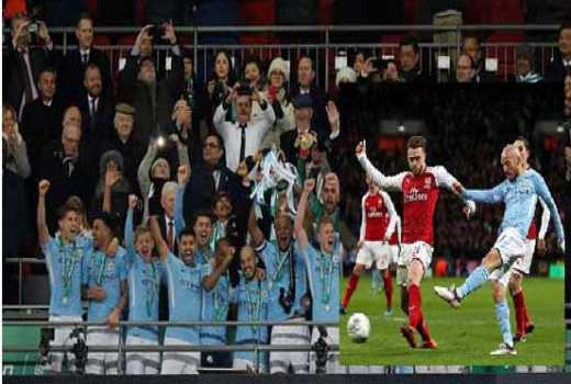 Manchester City beat sorry Arsenal 3-0 in League Cup final