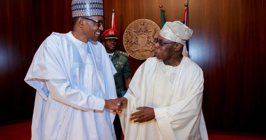 Obasanjo, others joins Buhari at Council of State meeting