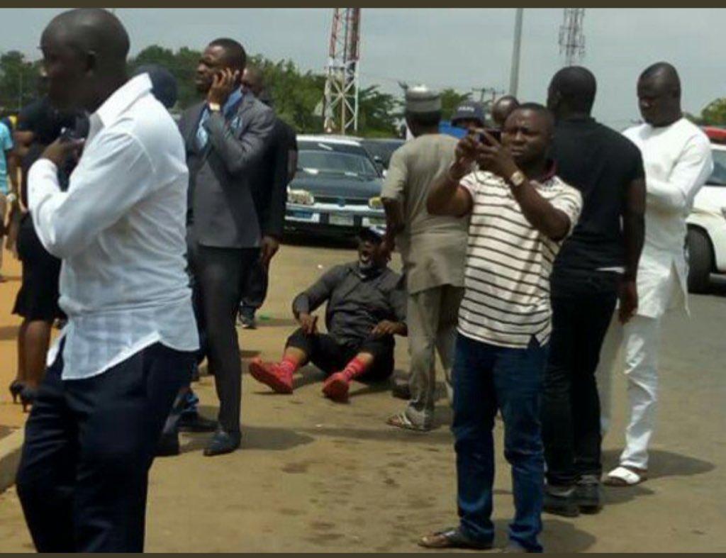 VIDEO: Dino Melaye, Police captured in rough struggle