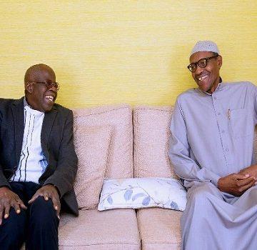 President Buhari, Bola Tinubu in closed door meeting in London