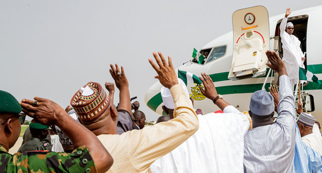 Buhari departs Daura for Mauritania, to address AU on anti-graft