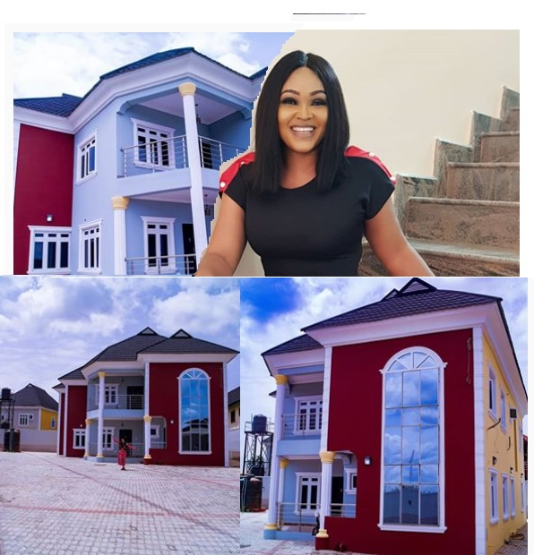 Mercy Aigbe unveils her new house