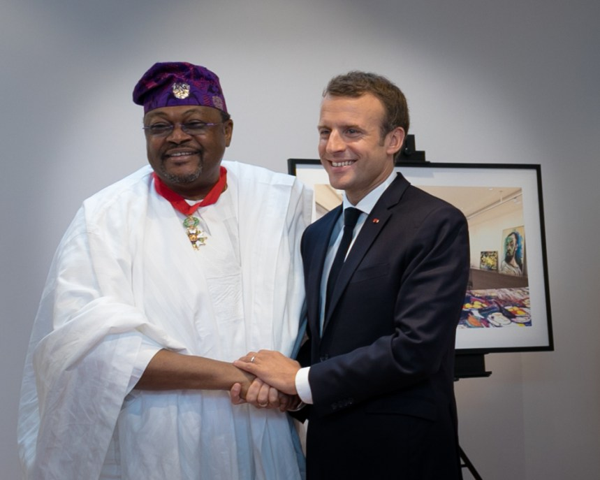 Macron bestows Mike Adenuga with France's highest national honour