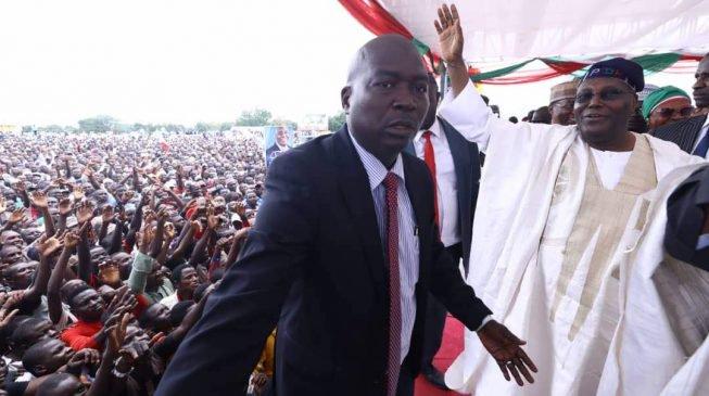 VIDEO: Atiku makes presidential declaration as thousands throng venue