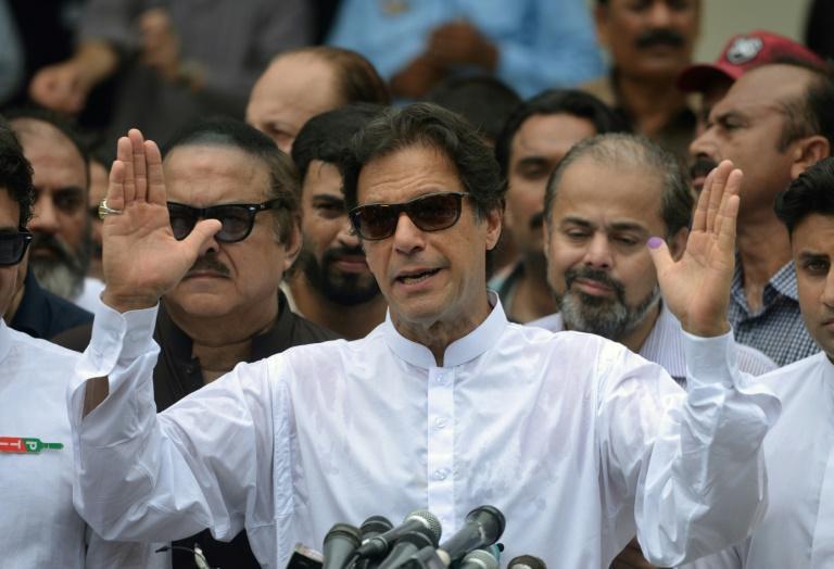 Cricket hero, Imran Khan claims victory in acrimonious Pakistan election