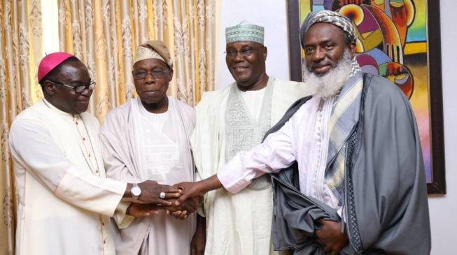 PHOTOS: Atiku's famous visit as Gumi, Oyedepo, Kukah follow former VP to Obasanjos's residence