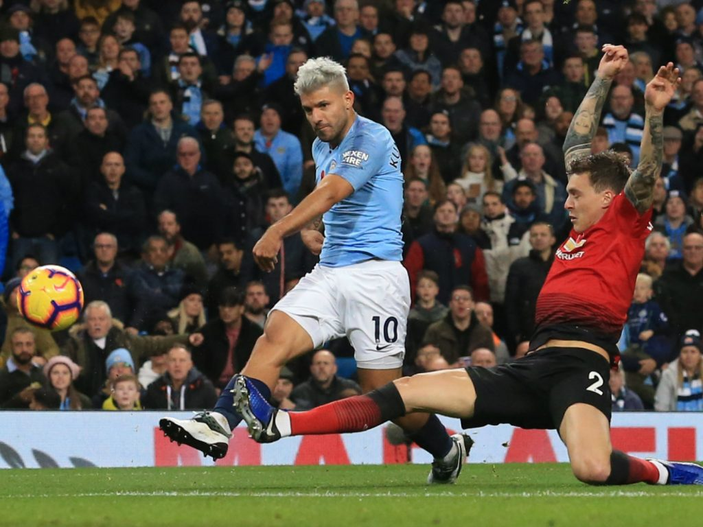 EPL: City smack United 3-1 in Manchester derby to go top