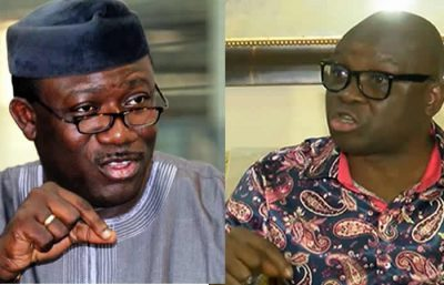 Ekiti: War of words continues as Fayemi, Fayose political feud rages on