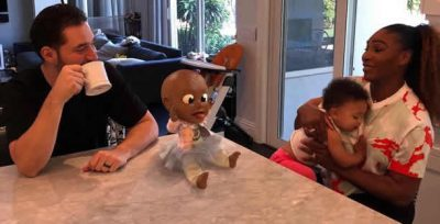 Tennis star Serena Williams introduces daughter, Olympia, to Black dolls