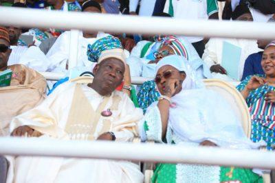PHOTOS: Aisha Buhari, Ganduje lead APC women and youth rally procession in Kano