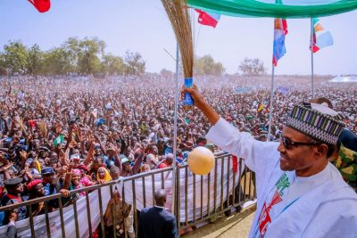 Election 2019: Thousands storm Sokoto stadium for Buhari – PHOTOS & VIDEO