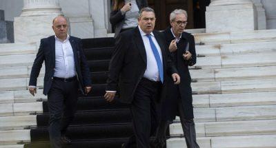 BREAKING: Greek Defence Minister Kammenos resigns ahead of Macedonia name vote