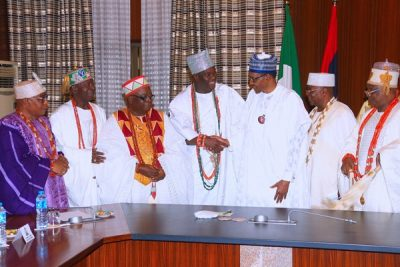 Buhari, South West traditional rulers meet in Abuja