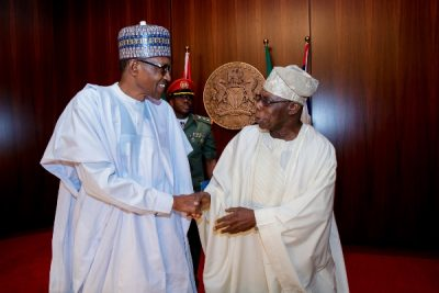 …and Obasanjo praises Buhari after a damning letter