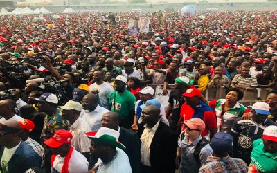 Thousands throng PDP presidential rally for Atiku in Lagos [PHOTO]