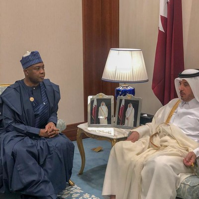 Saraki meets Qatar PM, calls for end to visa restriction on Nigerians