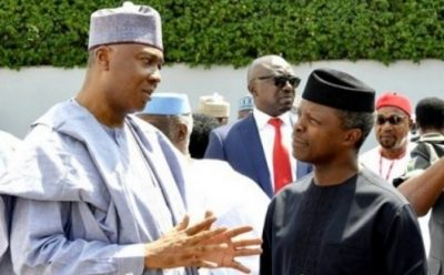 Osinbajo thanks Saraki for not taking advantage of power vacuum