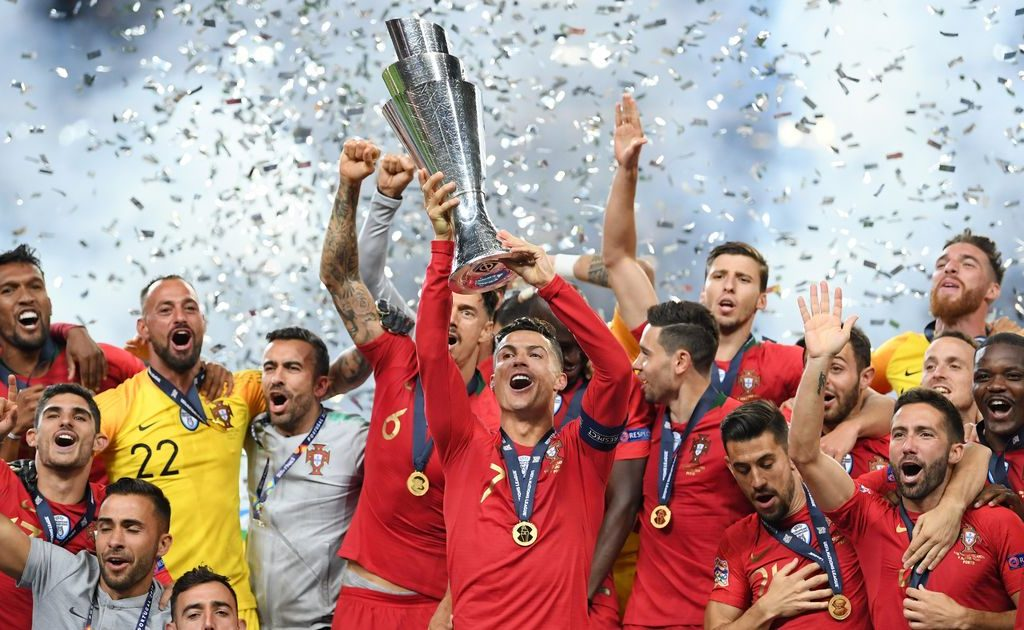 Cristiano Ronaldo lifts UEFA Nations League trophy after Portugal beats Holland 1-0 in final