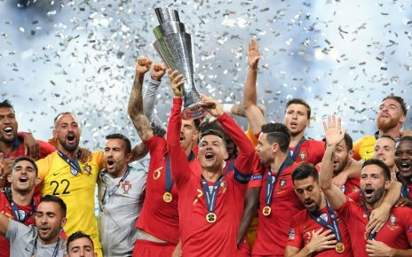 Cristiano Ronaldo lifts UEFA Nations League trophy after Portugal beats Holland 1-0 in final/newsheadline247