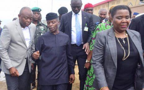 "VP Osinbajo, Fidelity Bank CEO Nnamdi Okonkwo ""meet"" as Techno Oil Commissions Plant /newsheadline247"
