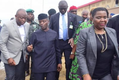 "VP Osinbajo, Fidelity Bank CEO Nnamdi Okonkwo ""meet"" as Techno Oil Commissions Plant /newsheadline247"