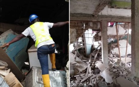 Lagos: Eight injured in Oshodi building collapse/newsheadline247