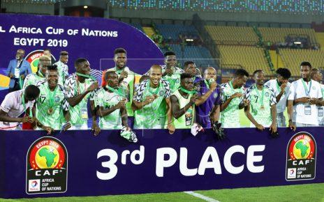 Nigeria beat Tunisia 1-0 to win 2019 AFCON bronze medal/newsheadline247
