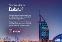 ZENITH BANK UNVEILS EASY ONLINE DUBAI VISA APPLICATION/newsheadline247.com