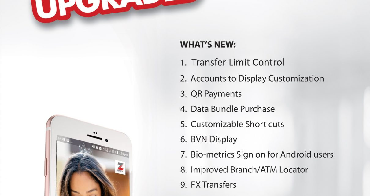 We've upgraded! Zenith Bank transforms its mobile banking application/newsheadline247