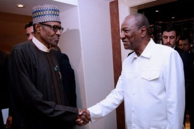 Eid El-Kabir: Buhari hosts Guinea's Alfa Conde in Daura