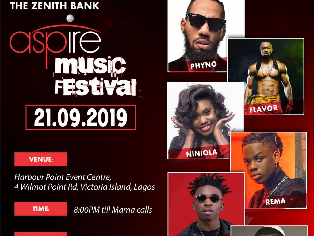 Zenith Bank's Aspire Music Festival debuts in Lagos, features Nigeria's top artistes