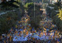 newsheadline247.com/350,000 protesters flood Barcelona for separatist 'freedom' rally