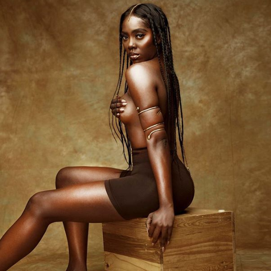 Photos: Tiwa Savage displays half naked 'black, bold & beautiful'/newsheadline247.com