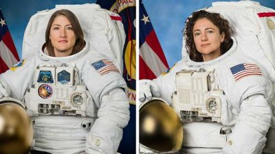 All-female spacewalk duo set sights on Moon