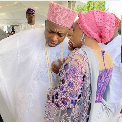newsheadline247.com/Olori Hadiza steps out with Oba Elegushi at father in-law's remembrance