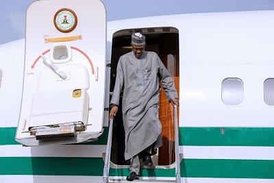Buhari returns to Nigeria after private visit to UK