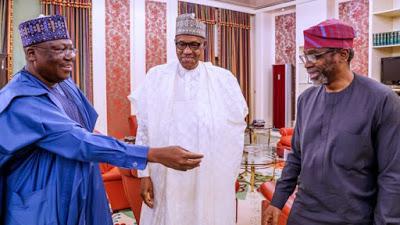 Buhari, Gbajabiamila,Lawan/newsheadline247.com