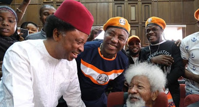 Solidarity: Soyinka, Sani, other activists in court as Sowore's trial resumes [Photos]