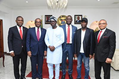 Zenith Bank Mgt Visit Sanwo-Olu/newsheadline247.com