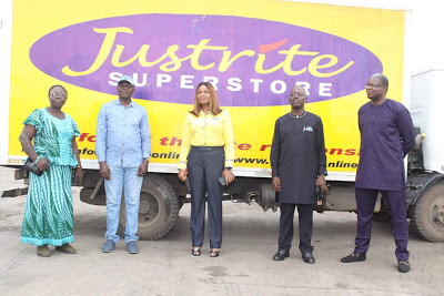 COVID-19 Humanitarian Support: JustRite Super Store donates truck load of Indomie, Golden Morn to Lagos Govt.